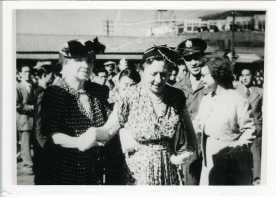 Hellen Keller (Left) and Lt. Colonel Victor E. Delnore (Back)