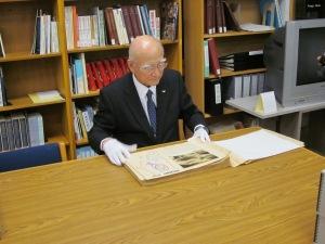 Mr. Fukahori observing Delnore Papers