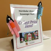 A prize for the scavenger hunt: Origami doll bookmarks