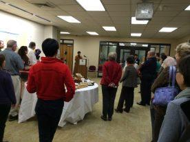 Yukako Tatsumi welcomes the guests.