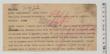 Kyodo Tsushin - 5/21/1947 (Prange Call No. 47-frn-0447)