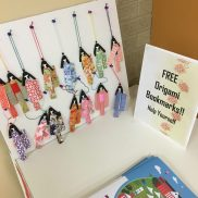 And don't forget our origami bookmarks!