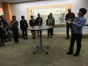 Yukako Tatsumi, Curator of the Prange Collection, welcomes the visitors.